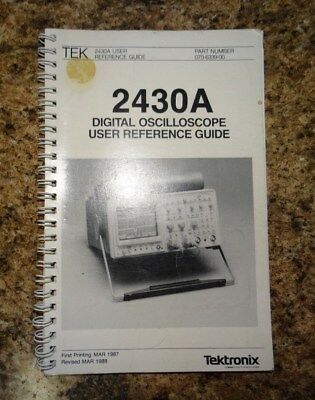 Tektronix 2430a Reference Guide