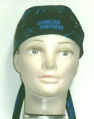 Carolina Panthers Skull Cap (Skull Cap for North Carolina Panthers on Black 100% Cotton #207 New)
