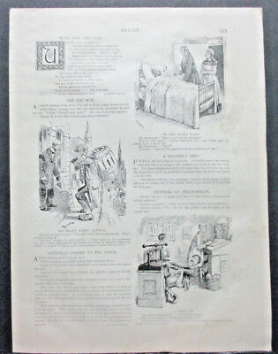 1891 THE JUDGE MAGAZINE 2 SIDED COMIC PAGE, HAMILTON