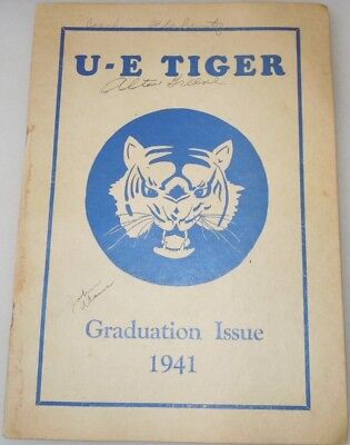 1941 Union Endicott New York Tiger Yearbook Signed Graduation Issue Wwii