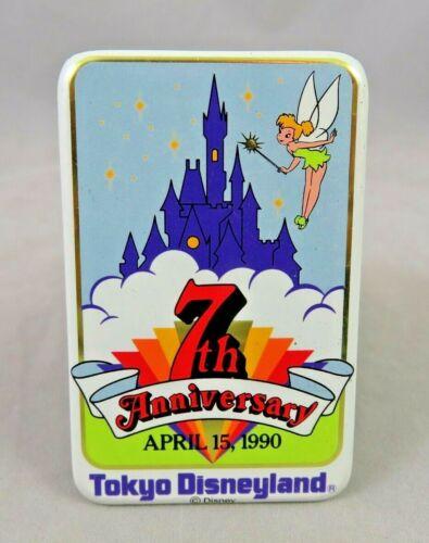 Vtg Disney Button Pin - Tokyo Disneyland - 7th Anniversary - Tinker Bell Castle