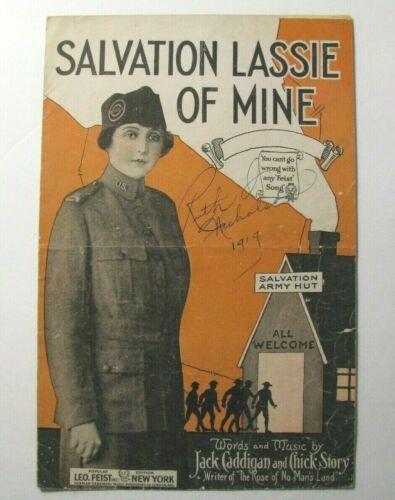 *1919 *SALVATION LASSIE OF MINE* VINTAGE SALVATION ARMY SHEET MUSIC*