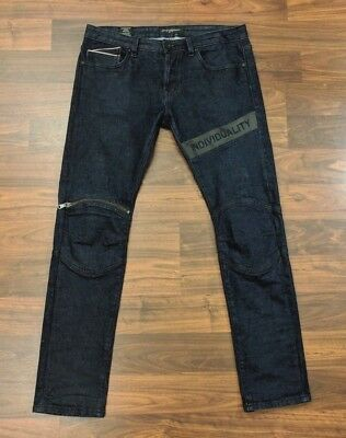 Cult of Individuality Greaser Moto Mens Jeans Straight Leg Button Fly 34 x 34](Greaser Jeans Mens)