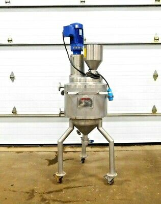 Mo-3390 Falco 50 Liter Stainless Steam Jacketed Mixing Tank. 316 Ss.