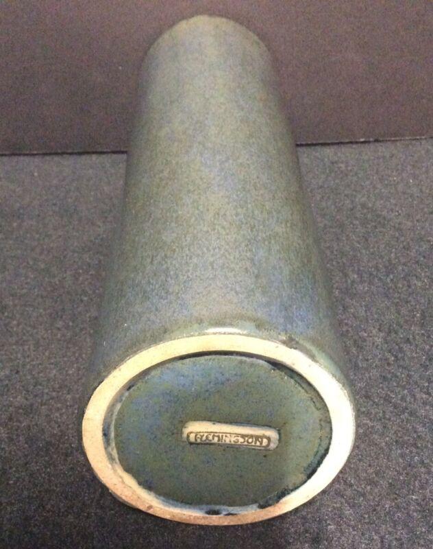 "Fulper Pottery Cyllinder Vase 10 3/4"" Tall"
