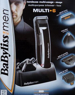 BaByliss für Men® Akku Haarschneider Bartschneider Ohrtrimmer Nasenhaar TOP NEU