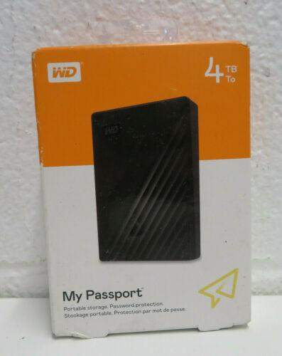 WD WDBPKJ0040BBK-WESN My Passport 4TB External Hard Drive - Black NEW SEALED