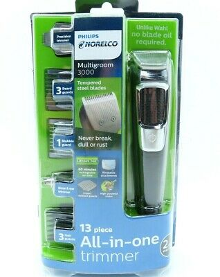 Philips Norelco Multigroom All-In-One Series 3000, 13 attachment trimmer MG3750