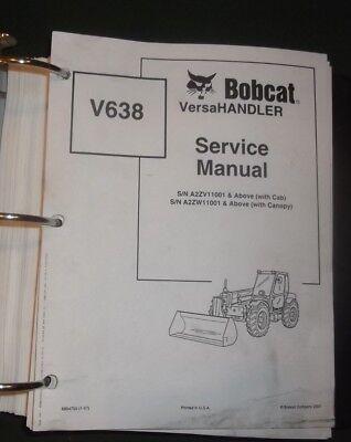 Bobcat V638 Versahandler Telehandler Service Shop Repair Workshop Manual