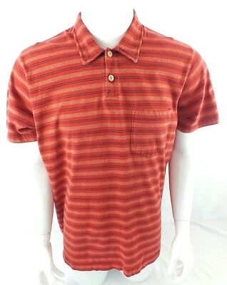 ABERCROMBIE AND FITCH MENS POLO RED STRIPED XL MUSCLE FIT for sale  Shipping to India