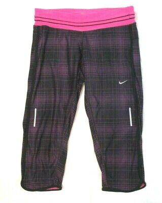 Nike Dri Fit Low Rise Workout Pant - Nike Running Dri Fit Capri Pants Black Pink Sz M Stretch Workout Athletic CB52H
