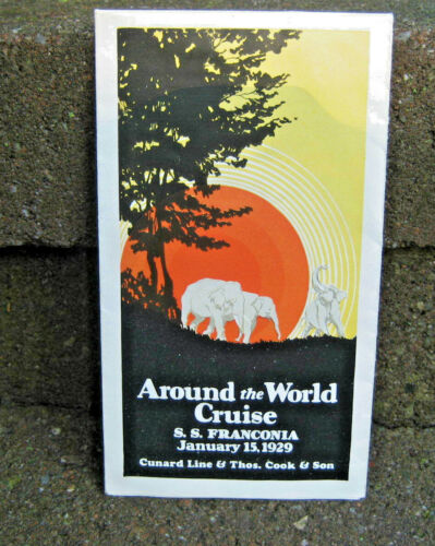 "1929 Cunard Lines ""Around the World Cruise"" Brochure"