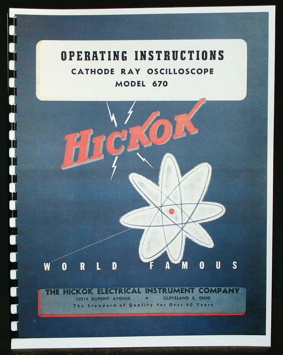Hickok Model 670 Oscilloscope Operating Manual