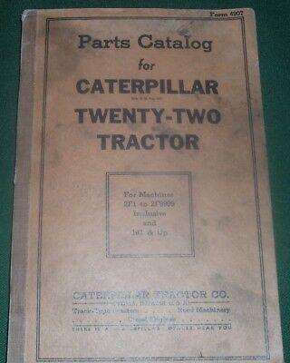 Cat Caterpillar Twenty-two Tractor Dozer Bulldozer Parts Book Manual Sn 2f1 1j1