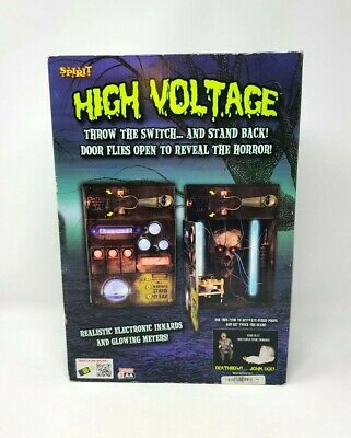 Spirit Animatronic High Voltage Animated Halloween Electrical Box RARE READ