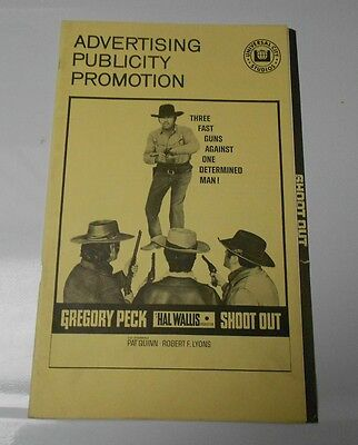 1971 SHOOTOUT Western Press Book Kit Gregory Peck FN+