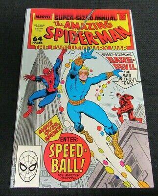 Amazing Spider-Man Annual #22 (1988) Key 1st Speed-Ball NM 9.4 BB262