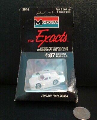MONOGRAM MINI EXACTS HO 1/87 SCALE REPLICA VINTAGE FERRARI TESTAROSSA (2014) -