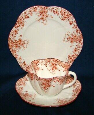 Shelley Dainty Sienna Orange Trio Cup & Saucer Salad Plate Salad Plate Cup