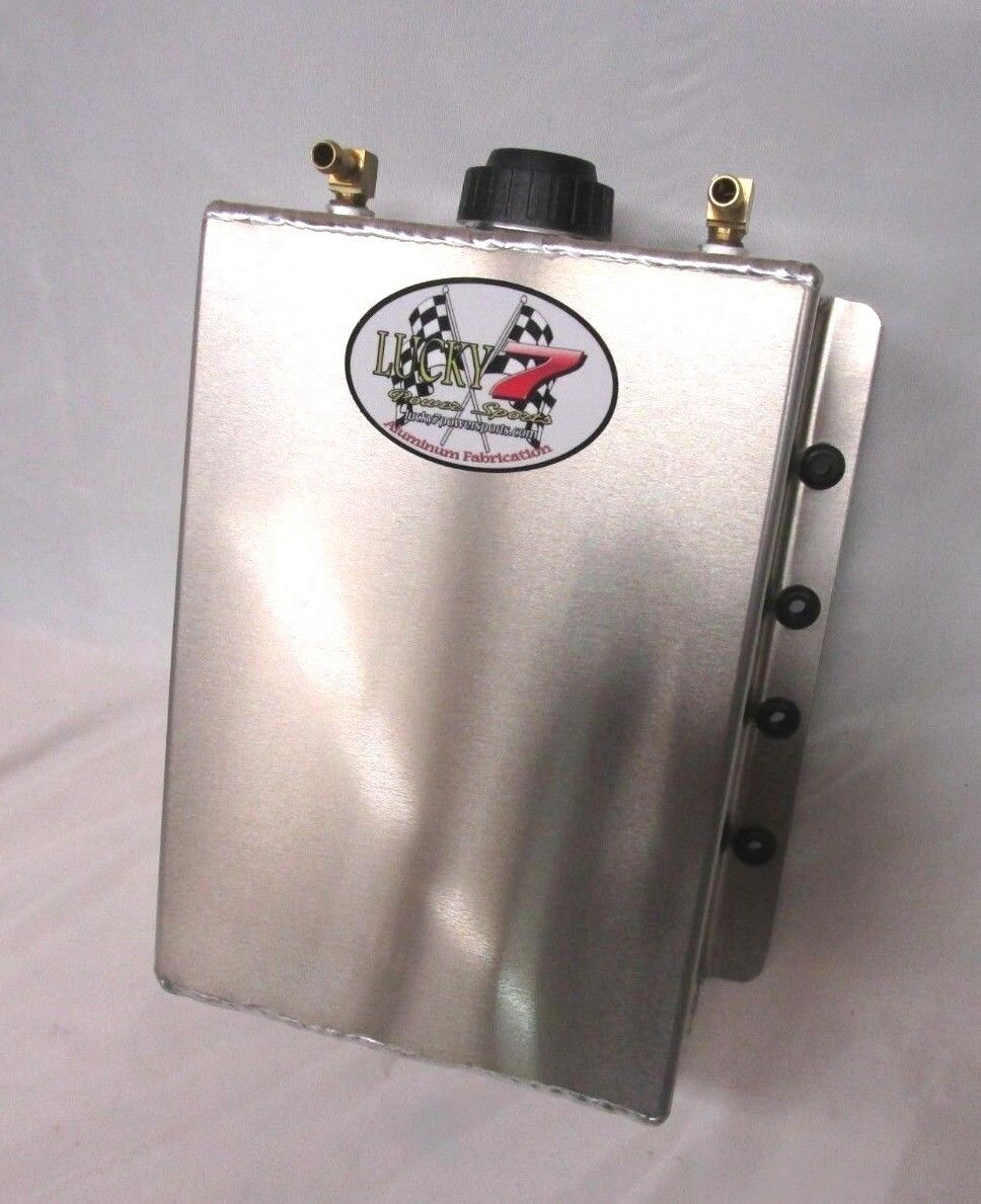 Coolant Overflow Aluminum Tank Radiator Coolant Expansion Recovery Universal 4Qt