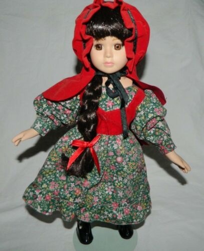 Little Red Riding Hood 14 inch Porcelain Doll with Stand