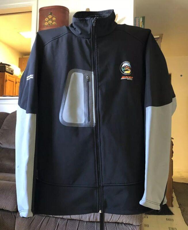 BNSF Railway Black & Gray Jacket  Mens 3XL Newton Kansas Division Injury Free