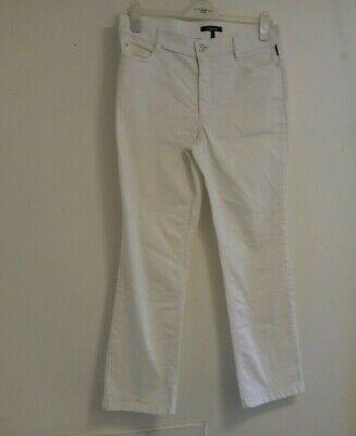 """Atelier Gardeur Womens White Jeans VENUS3 UK 14 Short 27"""" Leg bling pockets"""