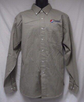 MENS Devon & Jones Pepsi Transportation Shirt Uniform Button Front L NWOT