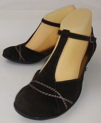 Gentle Souls Wos Shoes Heels EU 37.5 Brown Suede Buckle Ankle Strap Dorsay 2260 Ankle Strap Dorsay Pump