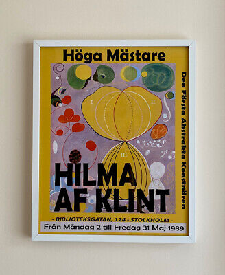 Modern Abstract Hilma Af Klint Exhibition Art Print 40x50cm.