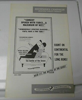 1959 BATTLE OF THE SEXES Press Book Kit PETER SELLERS FN+
