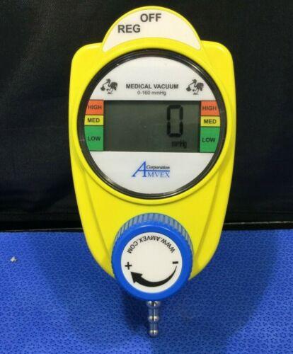 AMVEX DIGITAL VACUUM REGULATORS - YELLOW PEDIATRIC - 2 MODE REG/OFF  D/kp