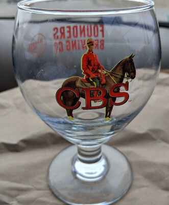 Cbs 2017 Glass Snifter Sold Only   Founders Rare  Canadian Breakfast Stout