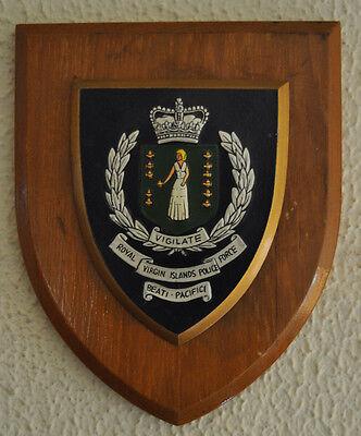 Royal Virgin Islands Police Force plaque shield crest badge Constabulary