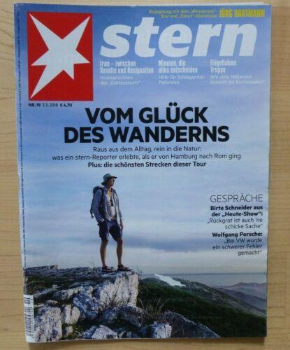 1 x Stern Zeitschrift I Nr. 19/2018 I Vom Glück des Wanderns I NP: 4,70
