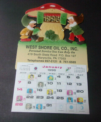 Vintage 1996 Advertising Calendar West Shore Oil Co. Marysville PA