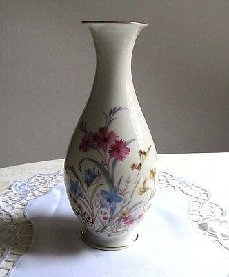 """Hutschenreuther Arzberg Vase """"Carl Tielsch""""  Blumendekor H.26 cm  um 1950-60"""