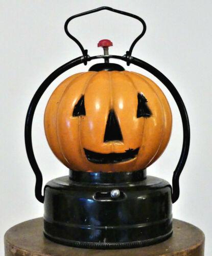 VINTAGE Jack O Lantern JOL Halloween GLASS PUMPKIN Trademark U HONG KONG