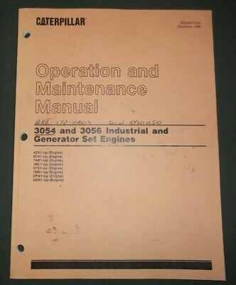Cat Caterpillar 3054 3056 Engine Operation Maintenance Manual 4zk 6fk 7ak 1ml