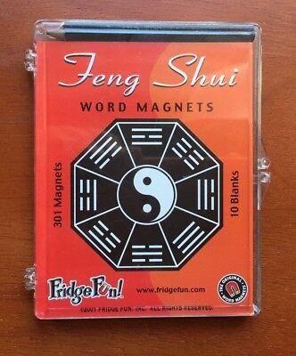 FRIDGE FUN Feng Shui WORD MAGNETS Refrigerator 301 Inspirational 11 Blanks w/BOX