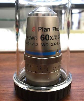 New Nikon S Plan Fluor 60x 0.70 Elwd Cfi 0.1 - 1.3 Wd 2.6-1.8 Objective