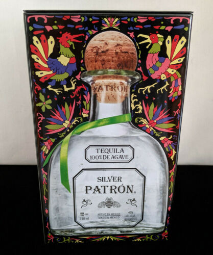 Silver PATRON Tequila Limited Edition Empty Collector Tin Box