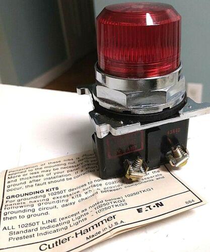 Cutler Hammer 10250T34R Std Indicator Light-Red 120V 50/60Hz