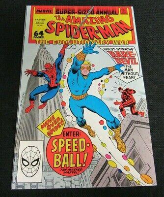 Amazing Spider-Man Annual #22 (1988) 1st Speed-Ball NM 9.2 N045