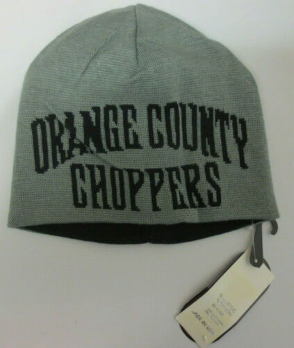 ORANGE COUNTY CHOPPERS BEANIE OCC PAUL SR JR MICKEY SKULLY SKULL CAP REVERSIBLE