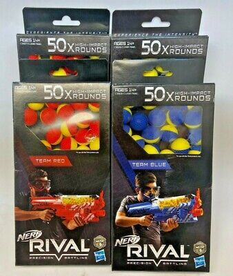 Nerf Rival Precision Battling Team Red/Blue 200x High Impact Rounds Balls