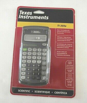 New - TEXAS INSTRUMENT TI-30Xa Battery Powered Scientific Calculator (s)