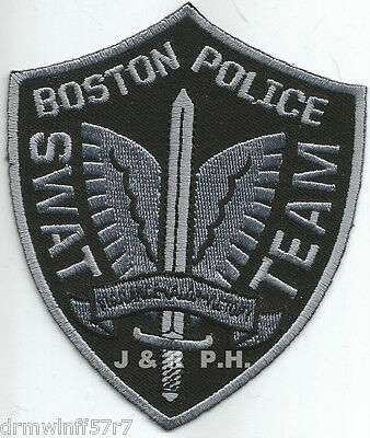 "Boston - S.W.A.T. Team, MA  (3.5"" x 4.25"" size)  shoulder police patch (fire)"