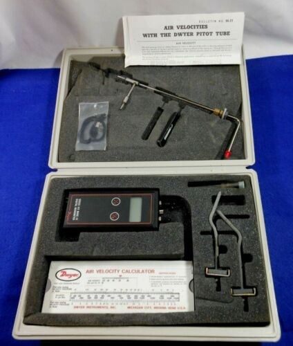 Dwyer Series 475 Mark lll Digital Manometer With Case & Pitot Tube
