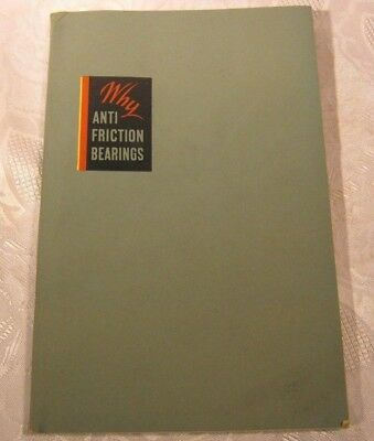 ANTI FRICTION BEARINGS DIVISION GENERAL MOTORS BOOK 1940'S (Anti Friction Bearings)